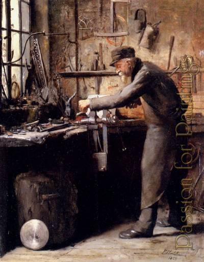 The Carpenter by Frans Mortelmans. (artwork can be purchased at www.passionforpainting.com)